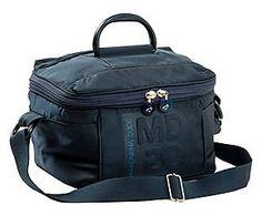 Beauty case in tela blu Mandarina Duck - 25x16x22 cm