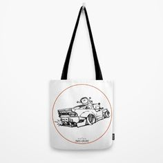 Crazy Car Art 0007 Tote Bag by mame_ozizo Weird Cars, Car Illustration, Kustom Kulture, Old School, Reusable Tote Bags, Drawings, Artwork, Stuff To Buy, Work Of Art