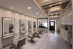 Hair Salon Interior with Soft Color