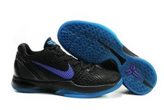 low priced 65fb3 e3444 Nike Zoom Kobe VI Teaser Black Purple Blue 436311 102