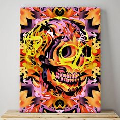 Abstract Hipster Sugar Skull Home Decor Wall Art Canvas Print Picture A2 A1 A0