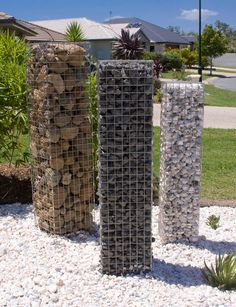 make your own gabion baskets - Google Search