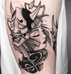 irezumi tattoos woman back & irezumi tattoos woman + irezumi tattoos woman japanese style + irezumi tattoos woman back Grey Tattoo, Japanese Tattoo Symbols, Traditional Japanese Tattoos, Traditional Tattoo, Irezumi Tattoos, Sleeve Tattoos, Oni Tattoo, Black Tattoos, Japanese Tattoo