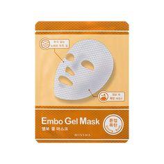 25g  Maska za suhu kožu bez sjaja  Embo Gel Shining Bomb maska plahtica sadrži ekstrakt lotusa i sladića (Glycyrrhiza glabra) koji daju sjaj umornoj i suhoj koži lica.  Ova maska plahtica izrađena je iz dva dijela, gornji dio lica i donji dio lica.  Maska se sastoji od dva sloja, tvrđi vanjski zaštitni sloj uklonite kada izvadite masku iz vrećice