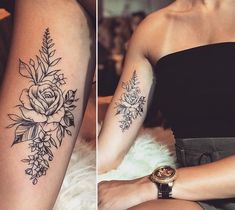 Arm Tattoos For Women Upper, Arm Tattoos For Women Forearm, Simple Arm Tattoos, Tattoos For Women Flowers, Tattoos For Women Half Sleeve, Arm Tattoos For Guys, Small Tattoos, Women Sleeve, Piercings