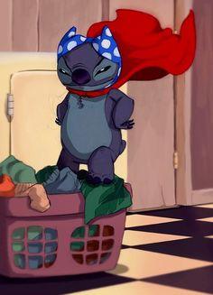 Superhero Stitch via www.Facebook.com/DisneylandForMisfits