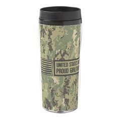 e60b77b634af U.S. Navy  Proud Girlfriend (Camo 16 oz Travel Mug