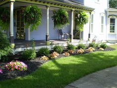 Nice hanging baskets and plantings