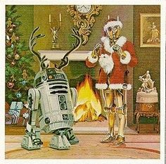 twicr:  Lucasfilm Christmas cards featuring our two favorite droids.