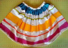Painted Stripe Skirt DIY | Tasha Delrae