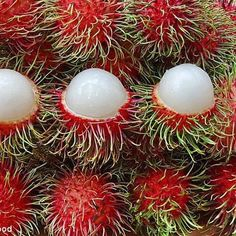Malaysian fruit - rambutan (hairy fruit), sweet and juicy.