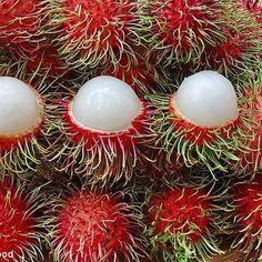 Malaysian fruit - rambutan (hairy fruit), sweet and juicy.