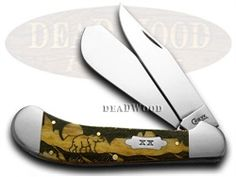 dyh6127gm  CASE XX Yellowhorse Antique Grizzly Mountain Large Saddlehorn 500 made Pocket Knife  6127GM