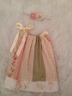 Shabby Chic Vintage Pillow Case Dress with by LittleBittyBow
