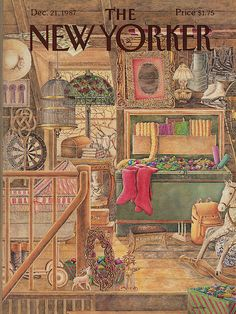 size: Premium Giclee Print: The New Yorker Cover - December 21 Art Print by Jenni Oliver : The New Yorker, New Yorker Covers, Magazine Art, Magazine Covers, Illustrations And Posters, Vintage Illustrations, Poster Prints, Art Prints, Vintage Magazines