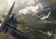 Several Fw 190A-8 hunted B-17G's over Germany Sky in 1944.
