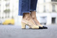 The Look-For-Less: Chanel Classic Two-Tone Slingback Heels