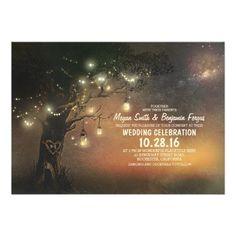 Lighted Tree Mason Jar Wedding Invite. Mason Jar Wedding Invitations - The Perfect Gift Store