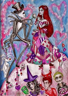 Valentine day with jack and sally