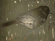 Bird Linocut 3