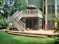 screened in porch under deck   deck design with screen porch below   Deck & Screened Under Deck