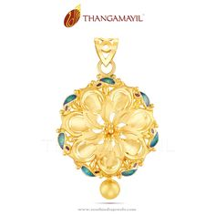 Gold designer pendant from thangamayil jewellery pendants yellow gold pendant designs gold enamel pendant designs yellow gold designer aloadofball Image collections
