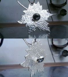 Leaf pendant (Bigger). made of silver.