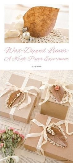 Wax-Dipped Leaves: A Kraft Paper Experiment by Abby Bastedo