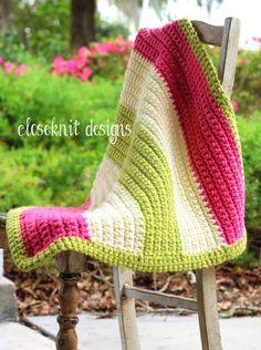 Baby Girl's Crochet Blanket for bassinet, stroller, car seat, crib - Baby Blanket