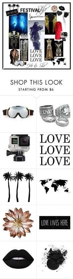 """""""HE & SHE Festival Style"""" by harmoniacostumes on Polyvore featuring Bogner, Billabong, Dot & Bo and Lime Crime"""