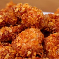 This is a simple 3 ingredient BBQ popcorn chicken but would be better with buffalo sauce I Love Food, Good Food, Yummy Food, Comida Diy, Food Hacks, Appetizer Recipes, Bbq Appetizers, Chicken Appetizers, Food To Make