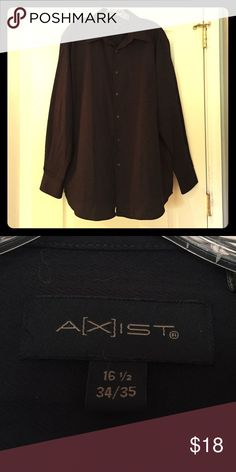 A[X]IST Button Down Shirt Excellent condition! A[X]IST black button down shirt. A[X]IST Shirts Dress Shirts