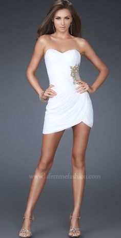 Free Shipping Sweetheart White Simple Tight Short-length Beads Taffeta Cocktail Dress In Stock US $119.98