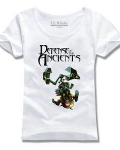 Boush tshirt impresso para Dota 2 herói de design de manga curta mulheres-
