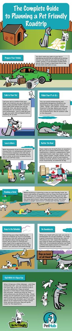 Complete Guide to Pet Friendly Road Trips Infographic