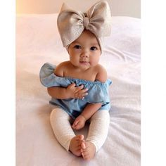 Kids fashion Girly - - Kids fashion Clothes - - Kids fashion Winter Dolce and Gabbana - Kids fashion Toddler Sweaters Cute Baby Girl Outfits, Cute Baby Clothes, Newborn Baby Girl Clothes, Cute Kids Fashion, Baby Girl Fashion, Baby Kind, My Baby Girl, Baby Girl Bows, Bebe Love