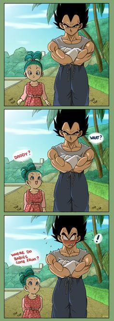 I Love Dragon Ball! Especially about Vegeta and Bulma family, utterly cute XO