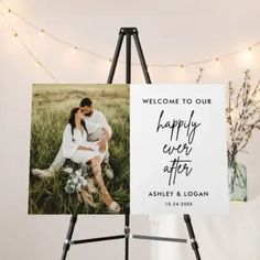 Happily Ever After Wedding Photo Welcome Sign #weddingwelcome