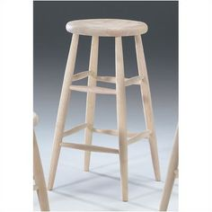Off 30 Inch Unfinished Wood Scooped Seat Stool by International Concepts. Choose this charming unfinished wood scooped seat stool to accent your homeu0027s ...  sc 1 st  Pinterest & Unfinished Wood Round Top Stool International Concepts Stationary ... islam-shia.org