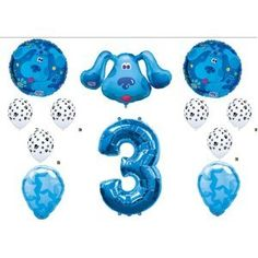 Amazon.com: Blues Clues Third 3rd Birthday Party Balloons Decorations Supplies: Everything Else