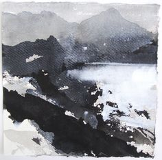 Abstract Watercolor Art, Abstract Landscape Painting, Seascape Paintings, Watercolor Landscape, Watercolor And Ink, Watercolor Illustration, Landscape Art, Landscape Paintings, Chinese Landscape