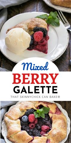 A delectable rustic fruit tart, this Mixed Berry Galette is simple to make and an impressive summer dessert! All the flavors of a berry pie without all the work1 Pie Recipes, Best Dessert Recipes, Sweet Recipes, Baking Recipes, Cookie Recipes, Recipes Dinner, Easy Recipes, Summer Desserts, Strawberry Desserts