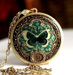 Another pretty butterfly locket! Beautiful