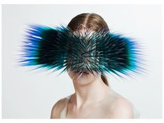 Maiko Takeda, Atmospheric Reentry, 2013, headwear, plastic film, acrylic, silver, dimensions variable, photo: Bryan Huynh