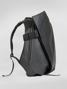 cote&ciel Isar Coated Canvas and Leather Black