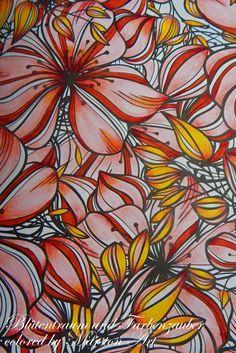Blütentraum und Farbenzauber, koloriert von Marston Art