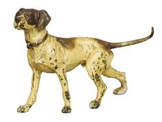 An Austrian cold painted bronze figure of a hound Modelled in alert pose. 12.5 cm high.