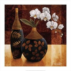 """Orquidea Linda I Orquidea Linda I is a fine art open edition reproduction. Printed on the finest quality paper it is signed in pencil by the artist. Orquidea Linda I measures 27.5"""" x 27.5"""" FREE SHIPPING."""