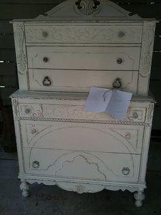 white dressers/shabby chic