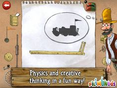 Pettson's Inventions Deluxe for iPad - a set of 66 puzzles containing various imaginary machines. Original Appysmarts score: 92/100 #kids #apps #kidsapps